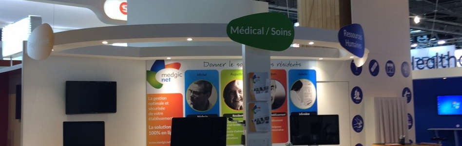 Stand MedgicNet au Salon Paris Healthcare week – HIT 2016