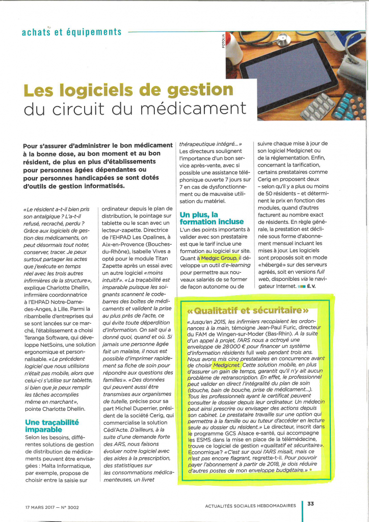 article presse ah medgicnet